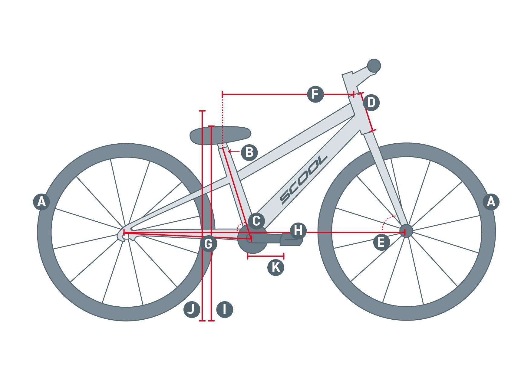 geometrieskizze eines dirt Bike
