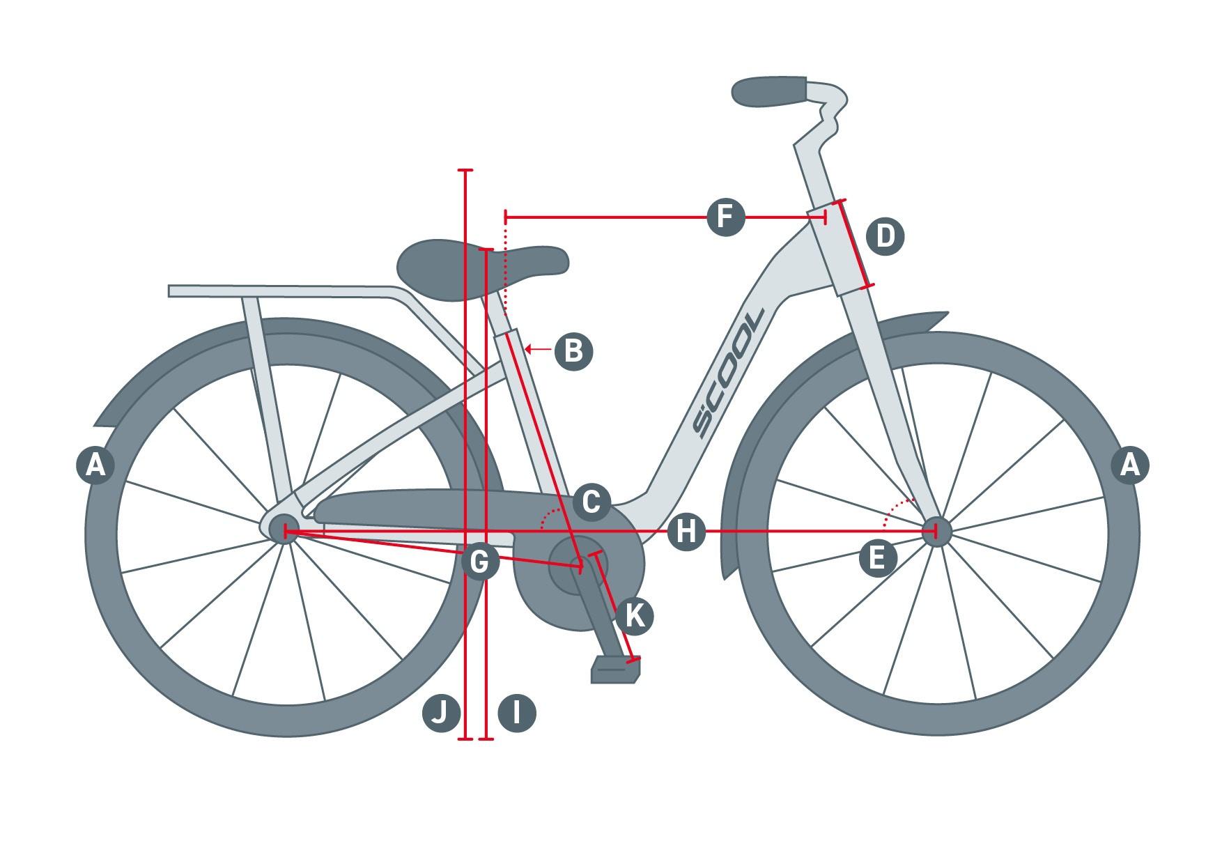 geometrieskizze scool bike