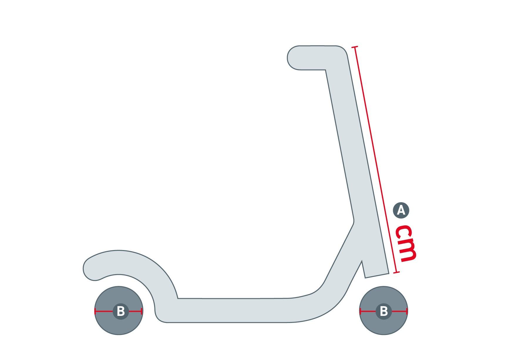 geometrieskizze eines scool scooters